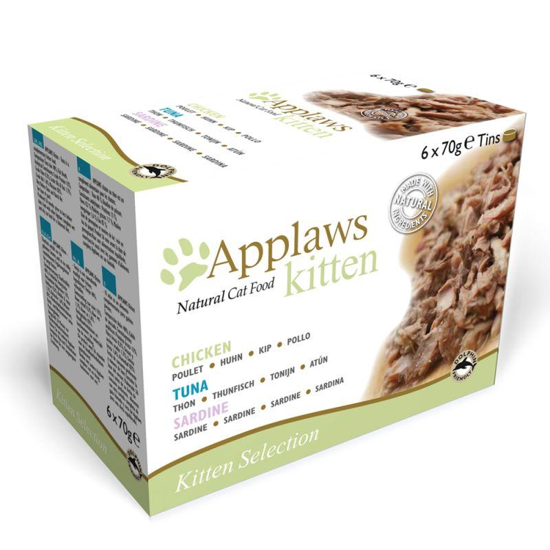Applaws Kitten -purkkilajitelma: sardiini, kana, tonnikala