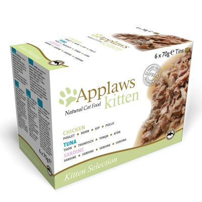 Applaws Kitten 6 x 70 g latas para gatos - Pack mixto