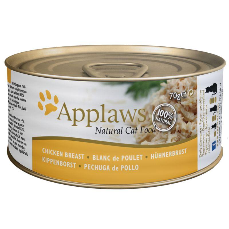 Applaws latas em caldo para gatos 6 x 70 g