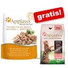 Applaws Plicuri în gelatină 16 x 70 g + Applaws 400 g pui & somon hrană uscată gratis!