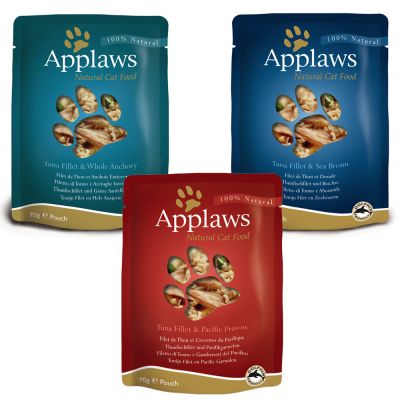 Applaws Pouch in Broth -kissanruokalajitelma 12 x 70 g