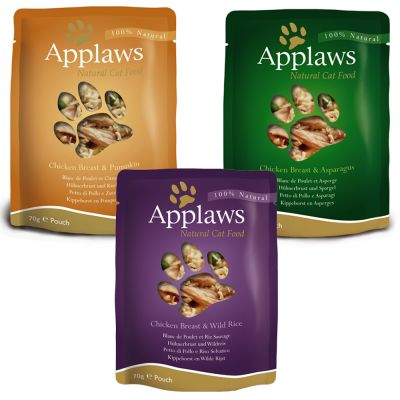 Applaws Pouches Cat Food in Broth Mixed Pack 12 x 70g