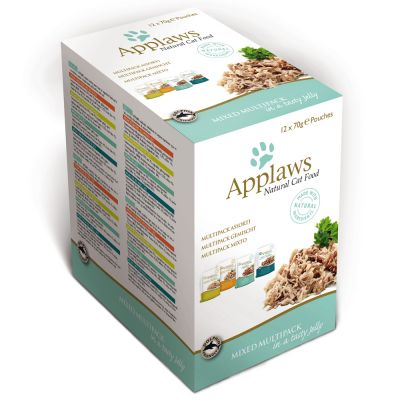 Applaws Pouches Cat Food in Jelly Mixed Pack 12 x 70g