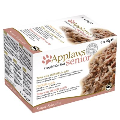 Applaws Senior latas en gelatina para gatos 6 x 70 g - Pack mixto