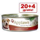 Applaws 24 x 156 g latas para perros en oferta: 20 + 4 ¡gratis!