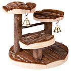 Arbre à grimper en bois naturel pour hamster