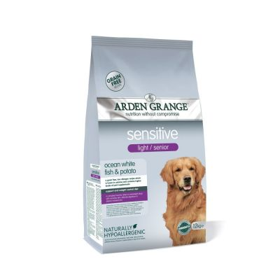 Arden Grange Sensitive Senior/Light - Grain-Free Ocean White Fish & Potato