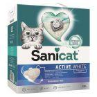 Areia aglomerante Sanicat Active White para gatos