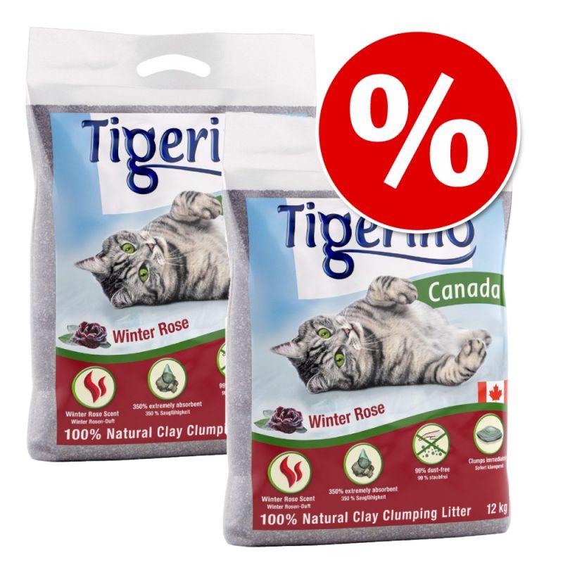 Areia do mês: Tigerino Canada areia aglomerante 2 x 12 kg com desconto!