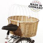 Aumüller biciklis kutyakosár védőráccsal csomagtartóra