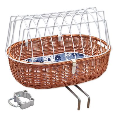 Aumüller Bicycle Basket with Wire (Handle Bar Mount)