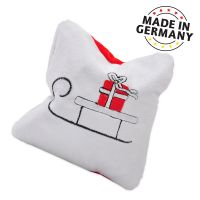 Aumüller Christmas Sled Cat Pillow