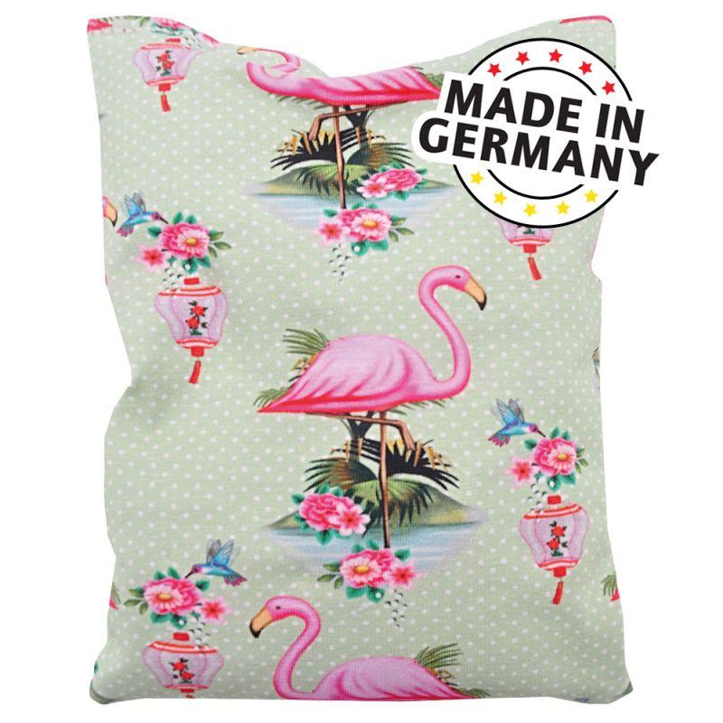 Aumüller Flamingo Shanghai -kissanminttu-virmajuuri-speltinjyvätyyny