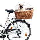 Aumüller Hunde-Fahrradkorb für Gepäckträger mit Schutzgitter