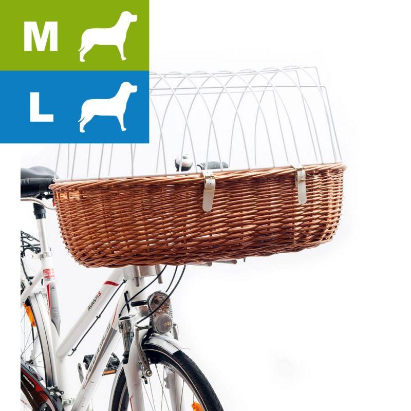 Fahrradkorb Weidenkorb Transportkorb mit Schutzgitter Gr M f/ür den Lenker