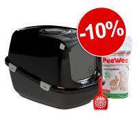 Bac à litière ou maison de toilette PeeWee : 10 % de remise !