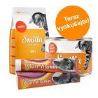 Balenie na skúšku Smilla: granuly, konzervy + pasta