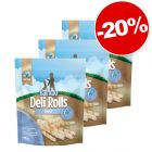 Barkoo Deli Rolls Dental Bâtonnets à mâcher 3 x 190 g : 20 % de remise !