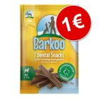 Barkoo Dental Snacks 7 unidades para cães de porte pequeno, por apenas 1 €!