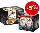 Barquettes Sheba 48 x 85 g + Perfect Portions saumon 48 x 37,5 g : 5 % de remise !