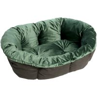 Überzug  Samt grün für Ferplast Hundekorb Siesta Deluxe