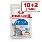 10 + 2 besplatno! 12 x 85 g Royal Canin Indoor Sterilised i Instinctive u umaku