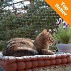 Bidefast sikkerhedsnet til katte med trådforstærkning