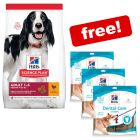 Big Bags Hill's Science Plan Dry Dog Food + 3 x Hills Dental Chews Free!*
