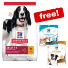 Big Bags Hill's Science Plan Dry Dog Food + 2 x Hill's Dog Treats Free!*