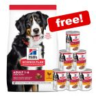 Big Bags Hill's Science Plan Dry Dog Food + 6 x Hill's Wet Food Cans Free!*