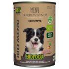 Biofood Organic Menu à la dinde pour chien