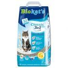 Biokat's Classic Fresh 3 em 1 areia aglomerante com aroma a algodão