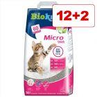 Biokat's Micro tai Micro Fresh -kissanhiekka 14 l: 12 + 2 l kaupan päälle!