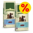 Blandat dubbelpack: 2 x 15 kg James Wellbeloved hundfoder
