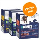 Blandat provpack: 9 x 370 g Bozita Chunks in Jelly