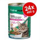 Blandat ekonomipack: Feline Porta 21 24 x 400 g
