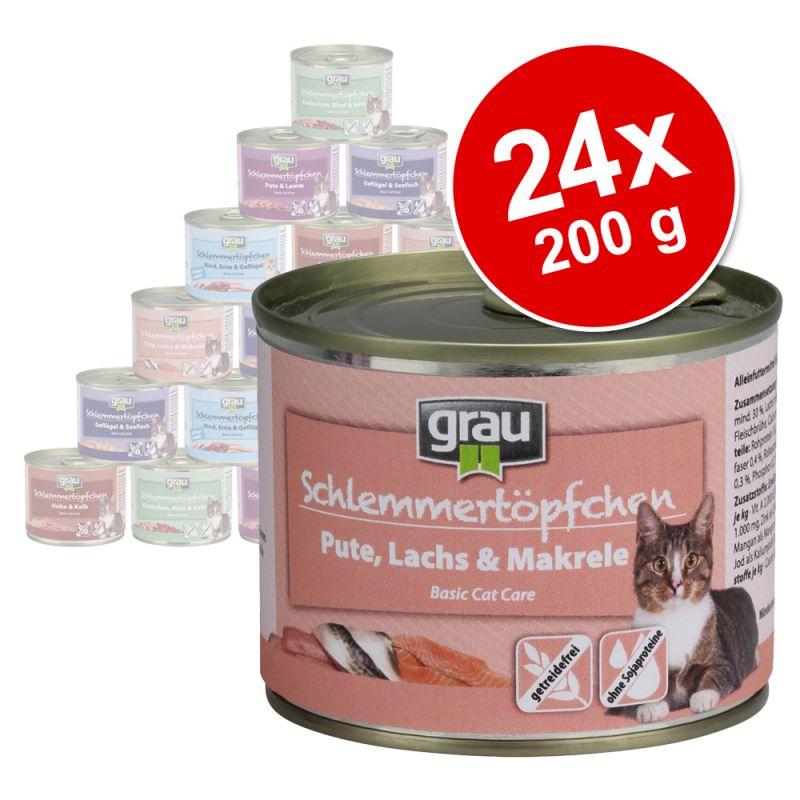 Blandat ekonomipack: Grau Gourmet spannmålsfritt 24 x 200 g