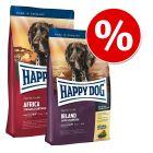 Blandat ekonomipack: 2 x 12,5 kg Happy Dog Supreme