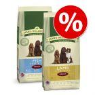 Blandat ekonomipack: 2 x 15 kg James Wellbeloved hundfoder