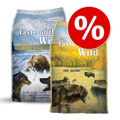 Blandat ekonomipack: 2 x 13 kg Taste of the Wild hundfoder