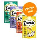 Blandat provpack: Dreamies Cat Treats 4 x 60 g