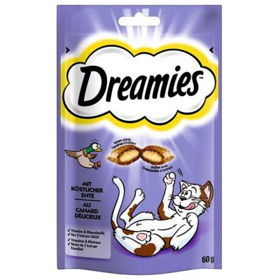 Blandat provpack: Dreamies Cat Treats 4 x 60 g