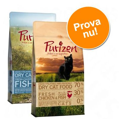 Blandat provpack Purizon Adult 2 x 400 g