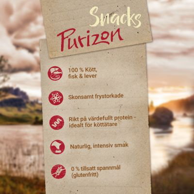 Blandat provpack: Purizon Snacks 2 x 40 g