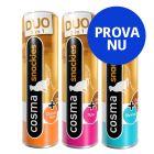 Blandat provpack: 3 sorter Cosma Snackies DUO 2 in 1