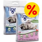 Blandat sparpack: Tigerino Canada kattströ, 2 x 12 kg