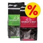 Blandat sparpack: World's Best Cat Litter kattsand