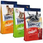Blandet pakke: Happy Cat Indoor Adult 3 x 4 kg