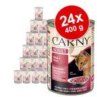 Blandet økonomipakke: 24 x 400 g Animonda Carny Adult