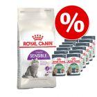 Blandet pakke: 2 kg Royal Canin + 12 x 85 g Royal Canin i sauce